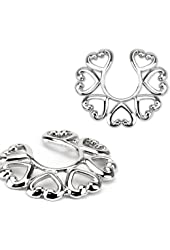 Vintage Hearts Clip On Non Pierce Nipple Rings - Sold as Pair