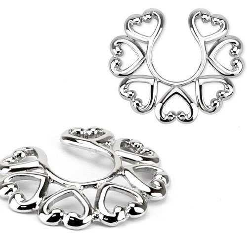 Clit Silver Non Pierce Body Jewelry