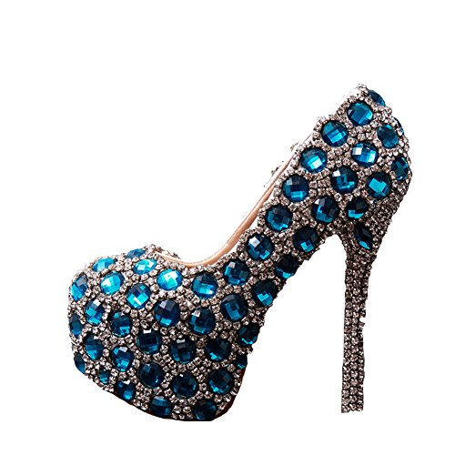 Wedding Women's Rhinestone Multicoloured High Heels BoShi Bridal Shoes wfvnq4wUg