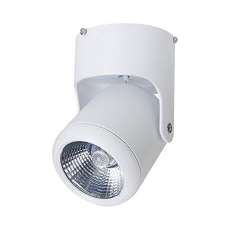 Foco de Interior LED Luz de la Pista del Techo Giratorio Iluminación COB Montada en Superficie ...