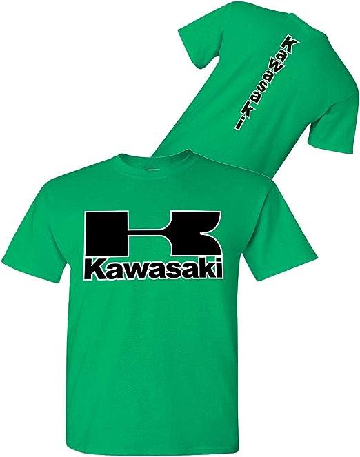 Kawasaki - Camiseta de Moto Irlandesa Verde - Streetbikes Dirtbikes Ninja ATV - Camisa Kawasaki - Verde - Small: Amazon.es: Ropa y accesorios