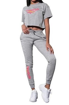 92c579d42e2c17 REEBOK Vector Logo Leg Drawstring Skinny Jogger Sweatpants-MGREYH_XS