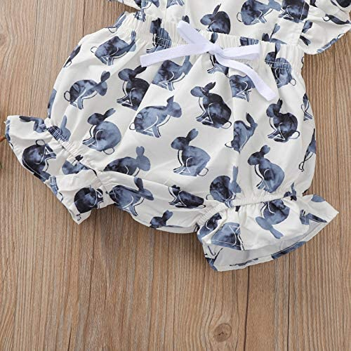 Fullfun Infant Baby 3M-3T Spring Autumn Rabbit Outfit Cotton Romper Onesies Jumpsuit