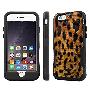 NakedShield Iphone 6 Plus (5.5) (Leopard) Armor Tough ShockProof Phone KickStand Case