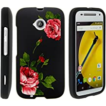 Motorola Moto E (2nd Generation) Case, Slim Fit Snap On Cover with Unique, Customized Design for Motorola Moto E LTE 2nd Generation XT1511, XT1257 (Boost Mobile, Cricket, Sprint, Verizon, Virgin Mobile) from MINITURTLE | Includes Clear Screen Protector and Stylus Pen - Affectionate Flowers