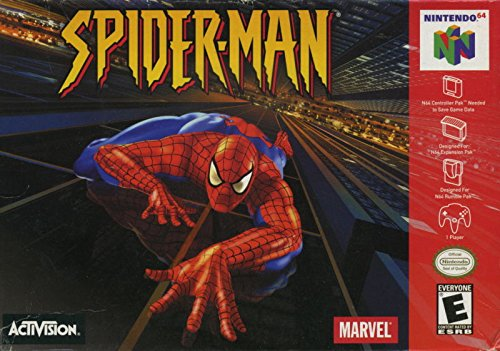 Spiderman Nintendo 64 Video Game - Cartridge Spider Game Man