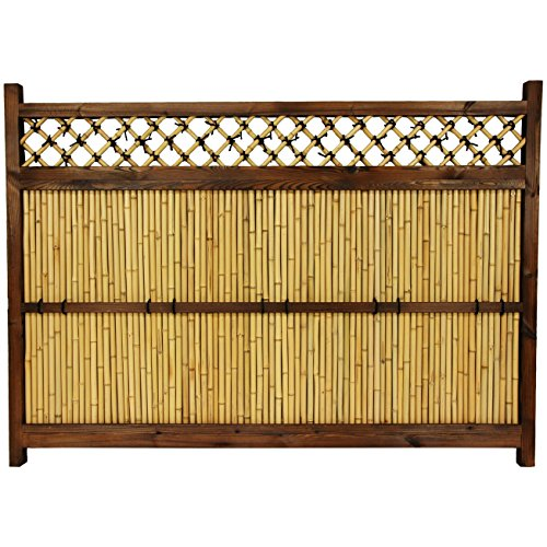 Zen Garden Fence - ORIENTAL FURNITURE 4 ft. x 5 ½ ft. Japanese Bamboo Zen Garden Fence