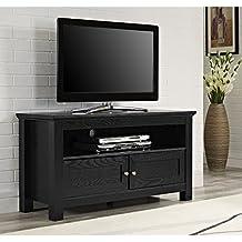 Walker Edison 44 inches Cortez TV Stand Console, Black