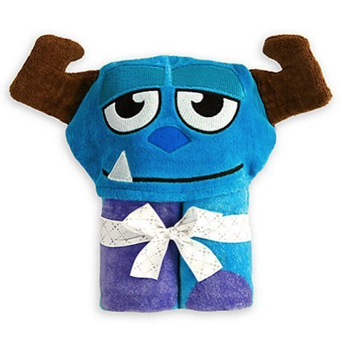 [Disney Monsters, Inc. Sulley Sully Hooded Towel for Baby Toddler Boys Girls] (Sully Monsters Inc Costume Toddler)