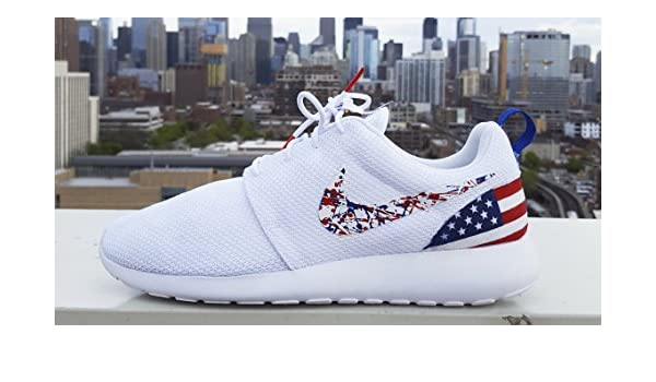 size 40 9ae07 175b1 Amazon.com  Roshe Shoes Custom Made American Flag Edition Available in all  sizes  Handmade