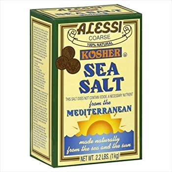 Alessi Kosher Sea Salt, 36.8000-ounces (Pack of6)