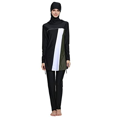 ca68c91dd7192 YONGSEN Islamic Swimsuit Muslim Swimwear Hijab Female For Women Bathing  Plus Size Burkini