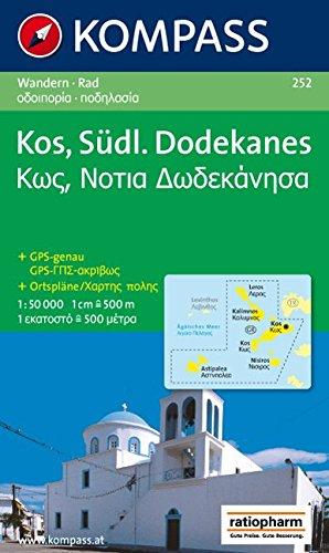 Kos - Südlicher Dodekanes: Wanderkarte mit Radrouten. GPS-genau. 1:50000