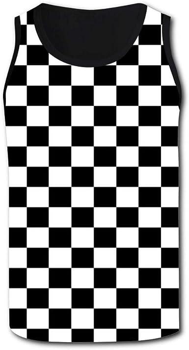 CCBING Black Checkered Squares Design Mens Novelty Swim Trunks 3D Printed