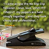 OfficeGoods Staple Free Stapler - The NO Slip Clip