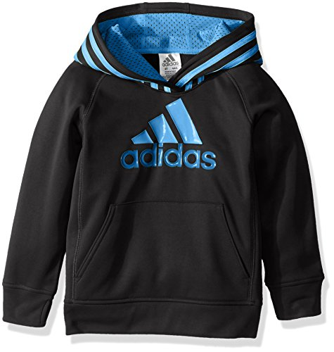 (adidas Little Boys' Athletic Pullover Hoodie, Caviar Black,)