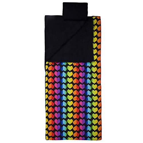 Wildkin Sleeping Bag, Rainbow Hearts