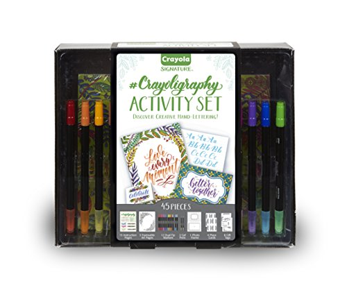 Crayola Signature Crayoligraphy Calligraphy Art Set, Hand Lettering Tutorials, Crafts Kit, (Kids Dual Art)