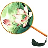 Elegant Hand Fan Aulic Circular Fan Chinese Fans Handheld Fan Mandarin Fan I