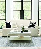 Sure Fit Cotton Duck T-Cushion Loveseat Slipcover, Natural
