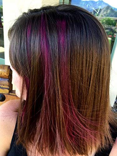 Rootflage Temporary Fun Hair Color - Shampoo Out Pink Color -Works ...