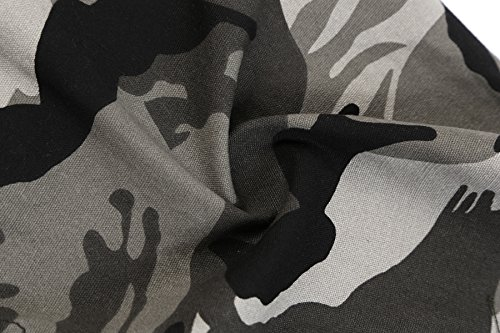 Just No Logo Men's Cotton Loose Fit Camouflage Camo Cargo Shorts(Grey Camo,US W36/Tag Szie W38)