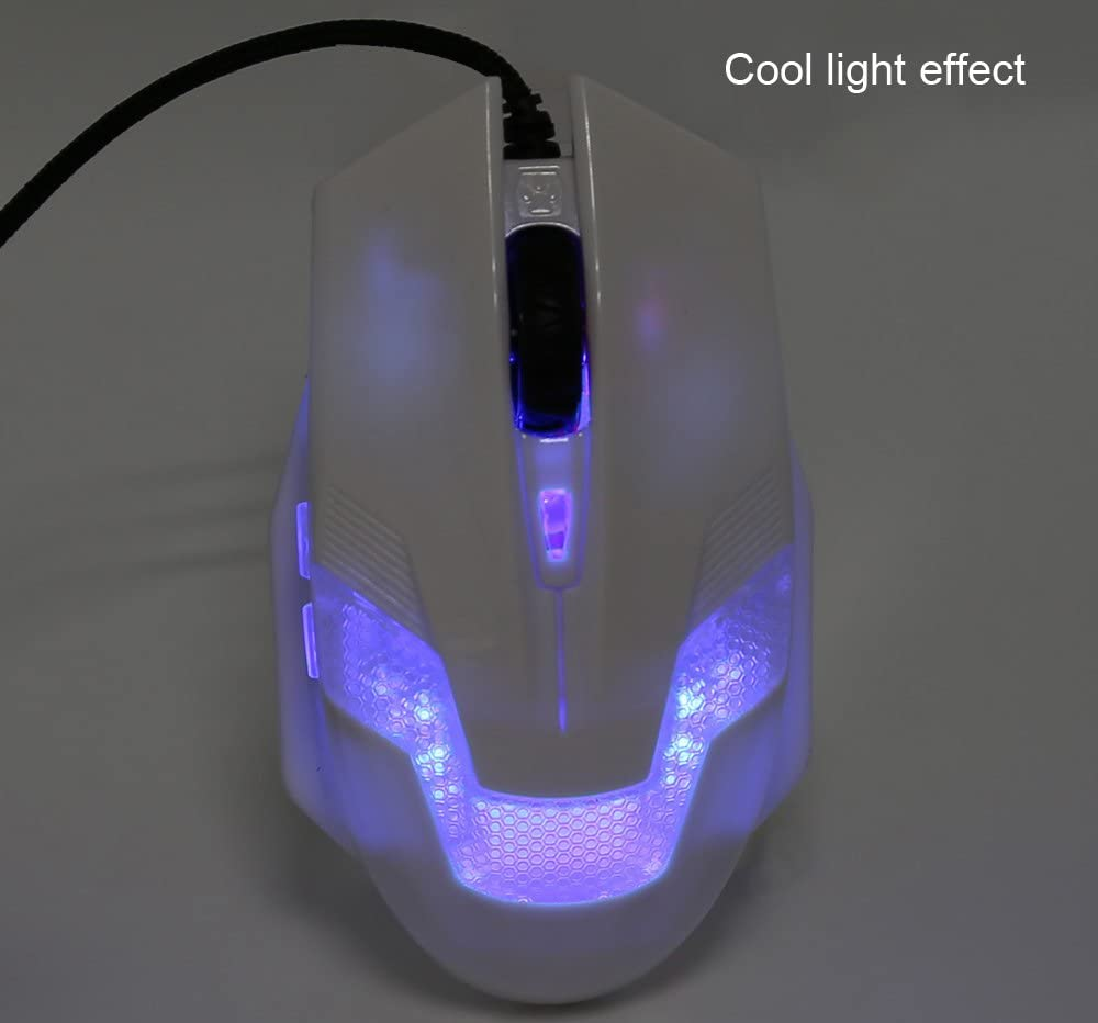 A-Jazz Green Hornet 2000DPI LED Gaming Mouse with USB Braided Wire Anti-Interference Magnetic Ring