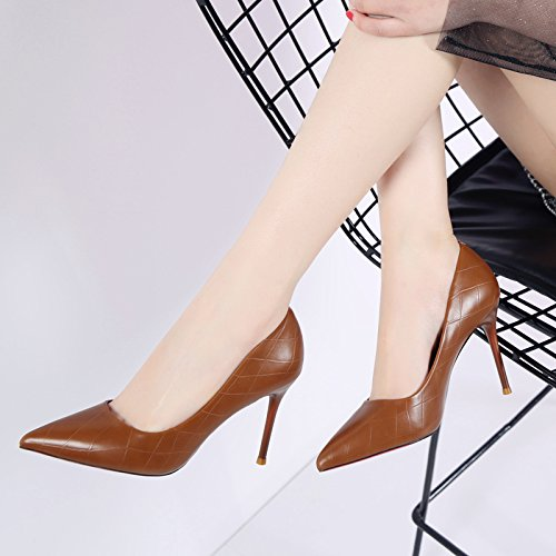 Spring Elegant Tip Light Work Leisure MDRW Lady Brown qRgzwH