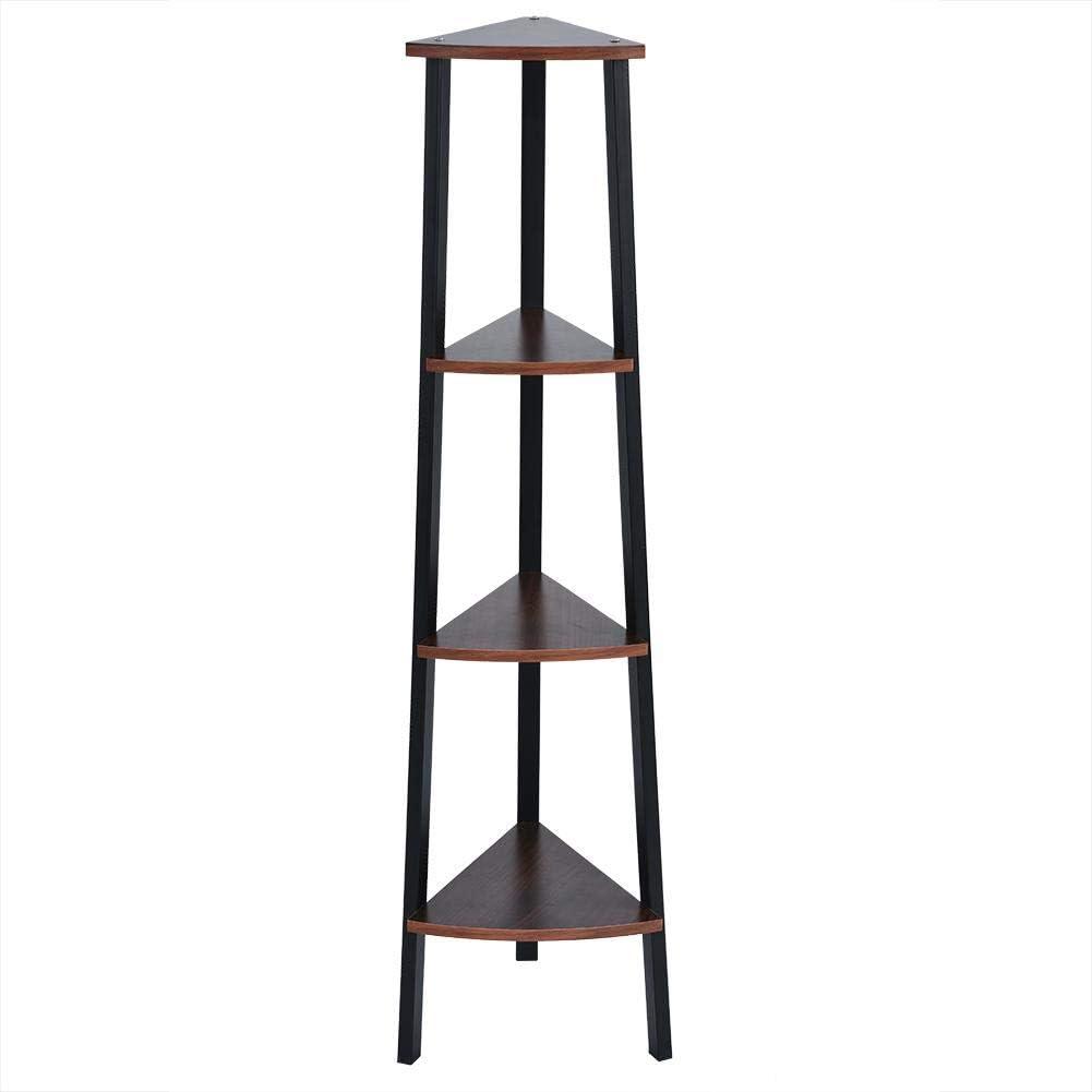 Estantería esquinera abierta de 4 niveles para exhibición de muebles, almacenamiento, organizador, escalera, estantería para decoración del hogar: Amazon.es: Hogar