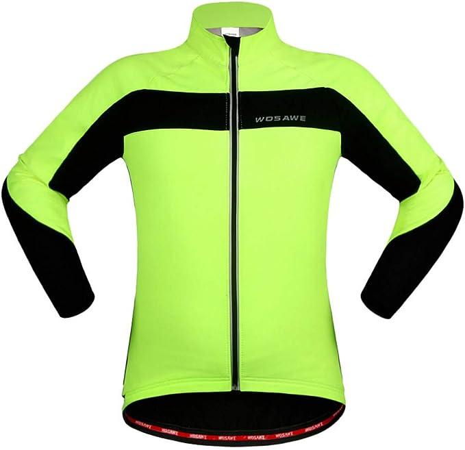 Gbike Unisex Thermal Fleece Chaqueta de Ciclismo Soft Shell de ...