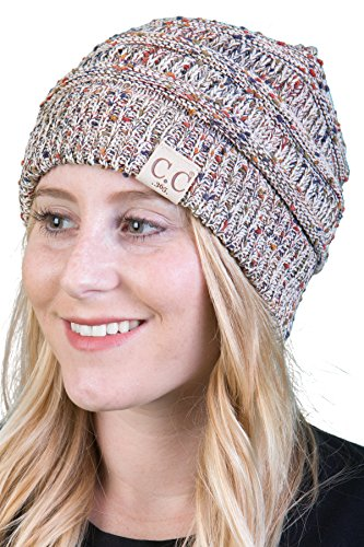 Oatmeal Color (H-365-867 All Season Beanie - Oatmeal Confetti)