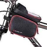 Bike Phone Mount Bag, Waterproof Universal Cycling Bicycle Frame Bags Phone Mount Holder For Iphone 6/6s/7/7s/8/X plus samsung 7 note 7 Below 6.2 inch Top Tube Handlebars Storage Bag