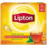 Lipton Black Tea Bags, 100% Natural Tea 100 ct