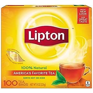 Lipton Black Tea Bags, America's Favorite Tea 100 ct