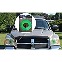 Green Car Eyes Headlight Tint Sticker - Perfect pairing with Car Eyelashes!