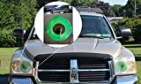 Green Car Eyes (TM) Pupil Headlight Tint Sticker Decal - Perfect pairing with Car Eyelashes!
