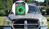 Green Car Eyes Headlight Tint Sticker - Perfect pairing with Car Eyelashes!