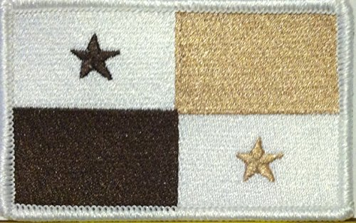 PANAMA Flag Embroidered W/ VELCRO Patch MC Biker Morale Embl