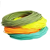 Maxcatch Weight Forward Floating Fly Line 100ft Yellow, Orange, Teal Blue, Moss Green (2F,3F,4F,5F,6F,7F,8F) (Moss Green, WF6F)