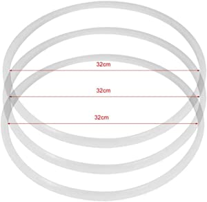 Comidox 32cm(12.59in) Replacement Silicone Rubber Clear Gasket Home Pressure Cooker Seal Ring 3pcs