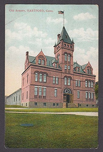 Old Armory Hartford CT postcard 1910s