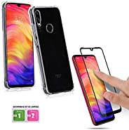 KIT Capa Anti Shock Impactos Xiaomi Redmi Note 7 + Película Blindada 3D Flexível Nano Gel Full Cover