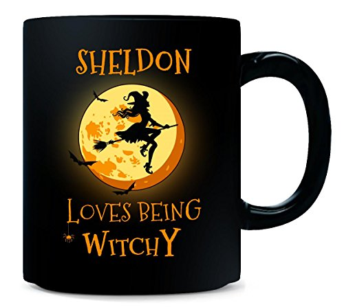 Sheldon Loves Being Witchy. Halloween Gift - Mug -
