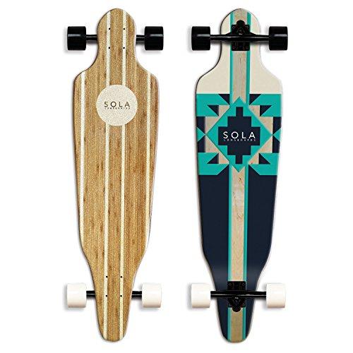 Sola Bamboo Premium graphic design Complete longboard Skateboard – 36 to 38 inch (AZTEC)