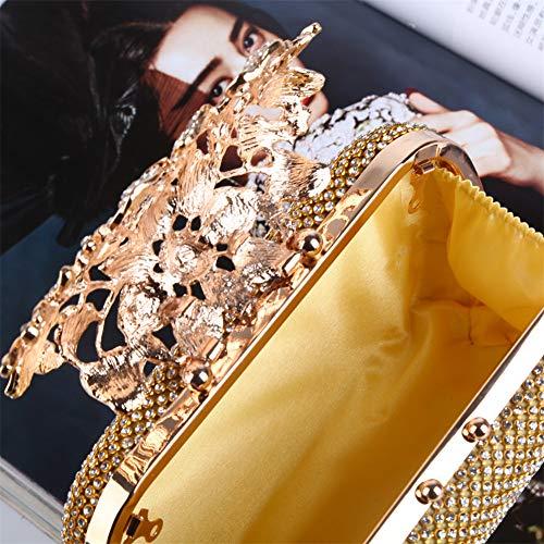cristallo borsa partito sera donne da frizione del borsa promenade Lxmhz da di grigio borsa per sposa banchettifestecluboro strass XOuZPki