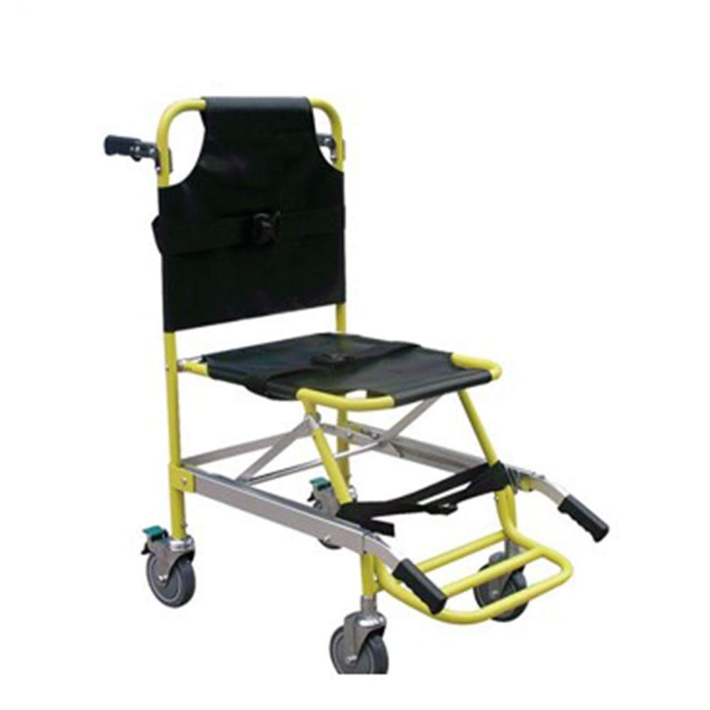 QETU Stair Evacuation Chair with Foot Pedal, Medical Rescue Stair Emergency Stretcher Easy Operating, 159Kg/350.3Ibs Capacity by QETU