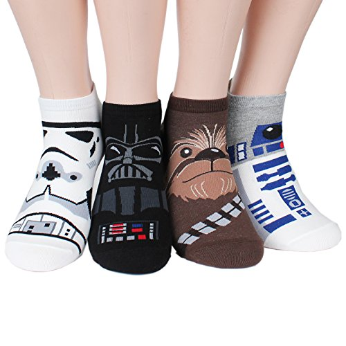 [Socksense Star Wars Mens Series Original Socks (Mania_4pairs)] (Star Wars Items)