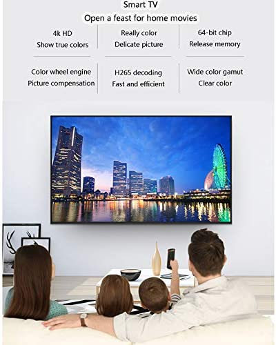 YILANJUN 32/42/46/55/60-Inch 4K Smart TV LCD HD Internet Television with Wall Mount and Base, Explosion-Proof High-Definition Eye Protection Blue-ray, Wi-Fi, for Kitchen Bedroom 518lSbK4hOL