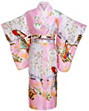 FADSHOW Women's Gorgeous Japanese Traditional Satin Kimono Robes/Nightgown Long