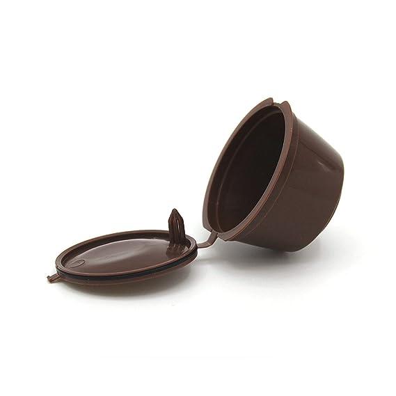 Adaptador de cápsulas rellenable para máquinas de café Nestlé Dolce Gusto, soporte de cápsulas, buena alternativa, reutilizable Tamaño libre marrón: ...